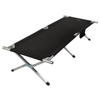 Regatta Renata Strong and Durable Camp Bed with Storage Bag - Black Seal Grey