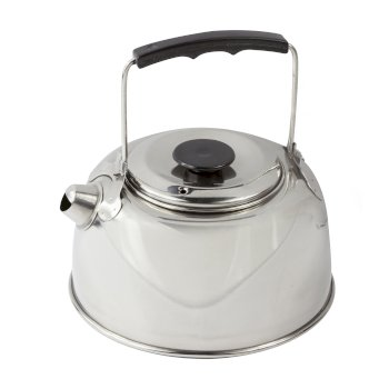 Regatta 1 Litre Steel Camping Kettle Stainless Steel - Silver