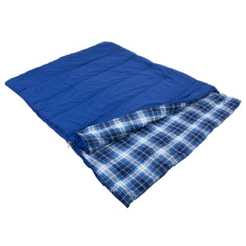 Regatta Bienna Cotton Lined Double Sleeping Bag - Laser Blue
