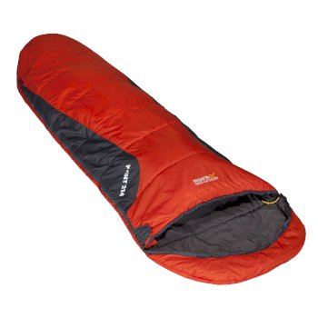 Regatta Hilo Ultralite Lined Ripstop Mummy Sleeping Bag - Amber Glow
