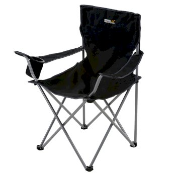 Regatta Isla Lightweight Folding Camping Chair Black Seal Grey