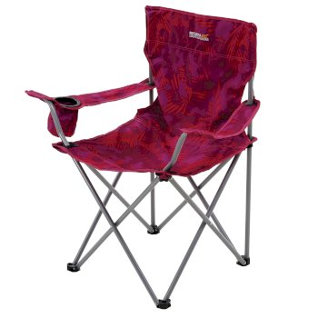 Regatta Isla Lightweight Folding Camping Chair Pink Tropical
