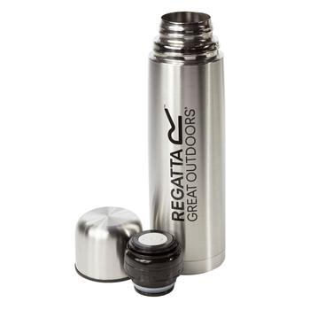Vakuum-Camping-Thermoskanne - 1 Liter Silber