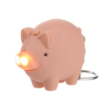 Animal Taschenlampe mit Schlüsselring Rosa