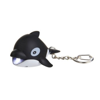 Regatta Animal Torch Keyring - Whale Black