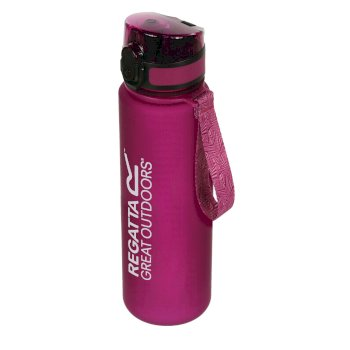 Regatta 0.6 Litre Tritan Flip Lid Bottle Azalea