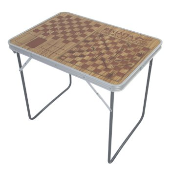 Regatta Classic Games Folding Camping Table - Brown