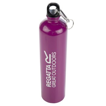 Regatta 1 Litre Steel Bottle with Karabiner Lid - Azalea Purple