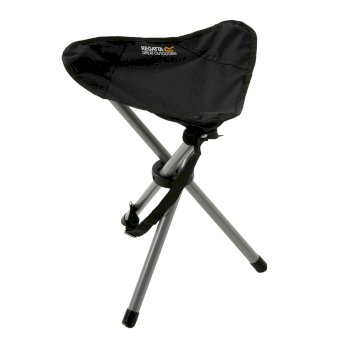 Regatta Ternio Tripod Stool Steel - Black