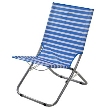 Regatta Kruza Folding Beach Lounger French Blue White