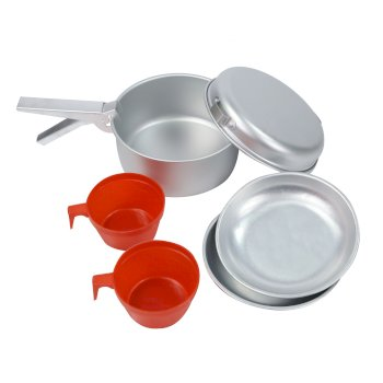 Regatta 2 Person Aluminium Cookset - Grey