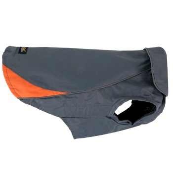 Regatta Reflective Lightweight Rainguard Dog Coat Seal Grey Orange