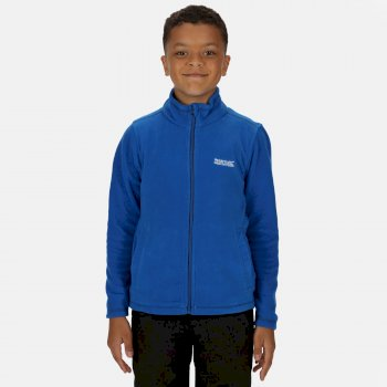 Kids' King II Lightweight Full Zip Fleece Oxford Blue Navy