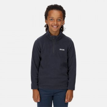 Regatta Kids' Hot Shot II Lightweight Half Zip Fleece - Navy
