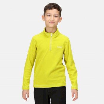 Hot Shot II leichtes Fleece mit halblangem Reißverschluss für Kinder Gelb