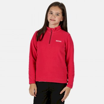 Hot Shot II - Kinder Pullover mit Reißverschluss - leichtes Fleece  Rosa