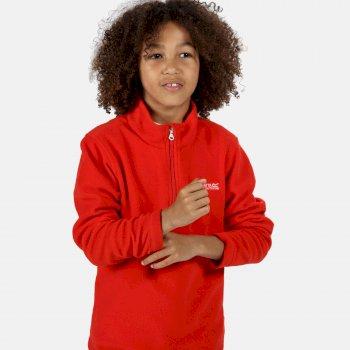 Hot Shot II - Kinder Pullover mit Reißverschluss - leichtes Fleece  Rot