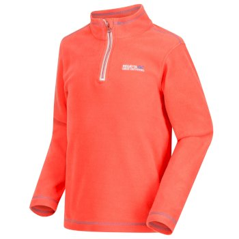 Regatta Hot Shot II Half Zip Lightweight Fleece Neon Peach