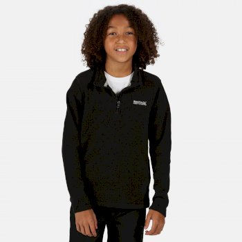 Regatta Kids' Hot Shot II Lightweight Half Zip Fleece - Black