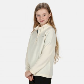 Regatta Kids' Hot Shot II Lightweight Half Zip Fleece - Polar Bear