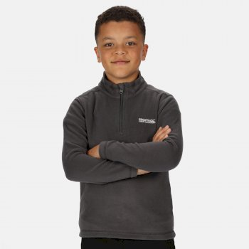 Regatta Kids' Hot Shot II Lightweight Half Zip Fleece - Magnet Grey