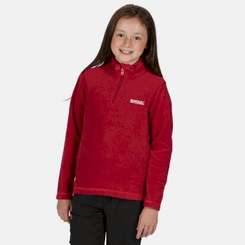 Hot Shot II - Kinder Pullover mit Reißverschluss - leichtes Fleece  Dunkles Kirschrot