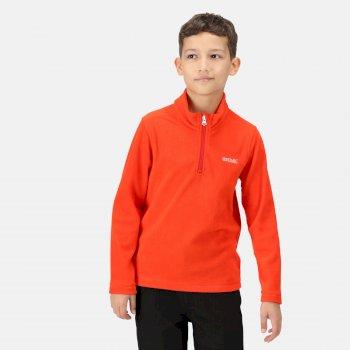 Hot Shot II leichtes Fleece mit halblangem Reißverschluss für Kinder Orange