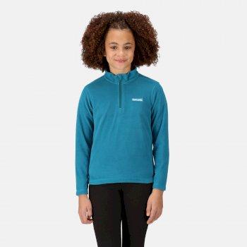 Hot Shot II - Kinder Pullover mit Reißverschluss - leichtes Fleece  Blau