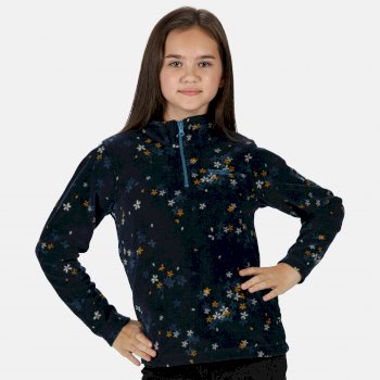 Regatta Kids Lovely Jubblie Lightweight Half Zip Printed Fleece - Navy Floral
