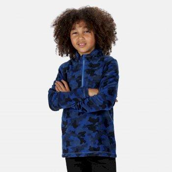 Lovely Jubblie leichtes, bedrucktes Fleece mit halblangem Reißverschluss für Kinder Blau
