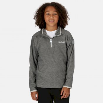 Regatta Kids' Loco Lightweight Mini Stripe Half Zip Fleece - Light Steel