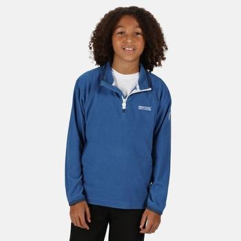 Loco - Kinder Fleece-Sweatshirt mit Reißverschluss - schmale Streifen Blau