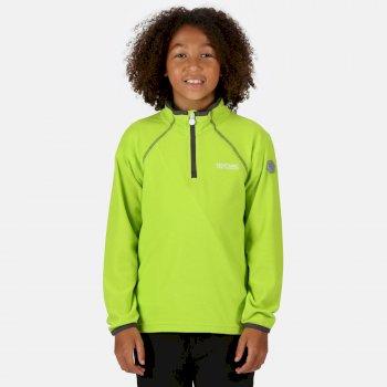 Loco leichtes Fleece mit Mini-Streifen und halblangem Reißverschluss für Kinder Gelb