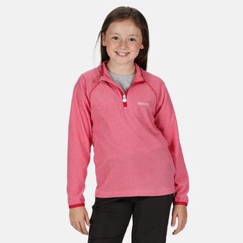 Loco leichtes Fleece mit Mini-Streifen und halblangem Reißverschluss für Kinder Rosa