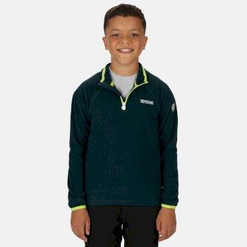 Loco leichtes Fleece mit Mini-Streifen und halblangem Reißverschluss für Kinder Grün