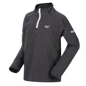 Loco leichtes Fleece mit Mini-Streifen und halblangem Reißverschluss für Kinder Grau