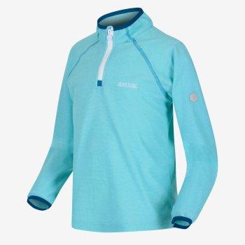Loco leichtes Fleece mit Mini-Streifen und halblangem Reißverschluss für Kinder Blau