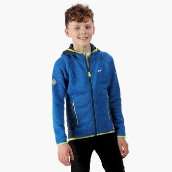 Dissolver II - Kinder Fleece-Hoodie Oxfordblau/Preußischblau