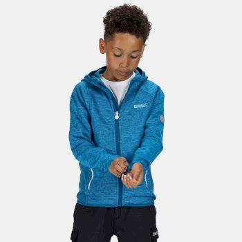 Dissolver II - Kinder Fleece-Hoodie Blau
