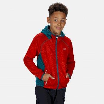 Dissolver II - Kinder Fleece-Hoodie Rot