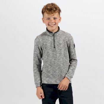 Brinley leichtes Fleece-Sweatshirt mit halblangem Reißverschluss navy