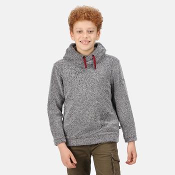 Keyon Fleece mit Kapuze für Kinder Grau