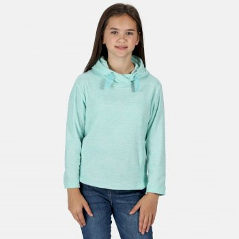 Regatta Kids' Kalina Funnel Neck Lightweight Hooded Fleece - Aruba Blue