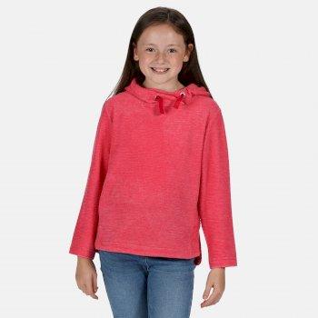 Kalina leichtes Kapuzenfleece für Kinder Rosa