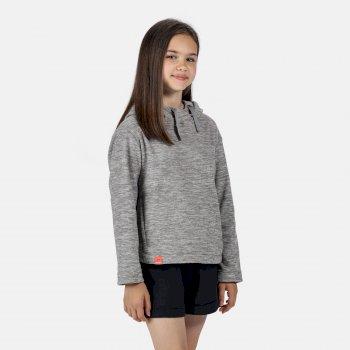 Regatta Kids' Kalina Lightweight Hooded Fleece - Dapple Grey
