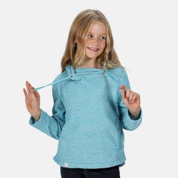 Kalina leichtes Kapuzenfleece für Kinder Blau