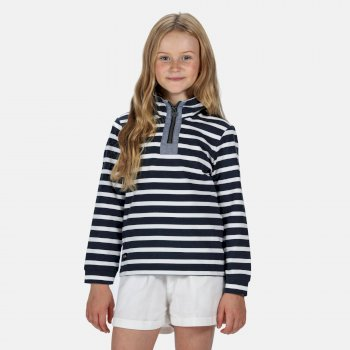 Regatta Kids' Benji Half Zip Fleece - Navy Stripe