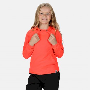 Eugina Kapuzenfleece für Kinder Orange