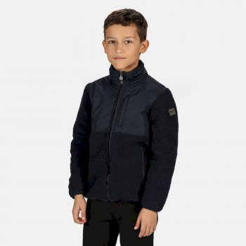 Regatta Kids' Myles Full Zip Heavyweight Fleece - Navy