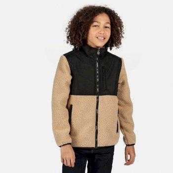 Myles robustes Fleece mit durchgehendem Reißverschluss für Kinder Beige